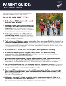 Parent Guide: Child Travel Safety